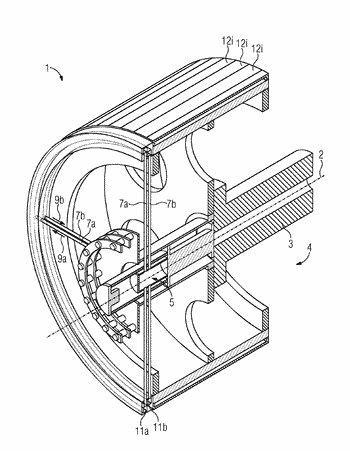 Cooling device for a high pole-count rotor