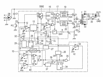Current resonant power supply device
