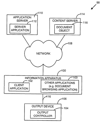 Mobile information apparatus with an application for receiving digital content from a digital content service ...