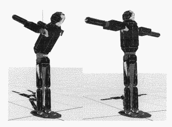 Simulation system for balance control in interactive motion