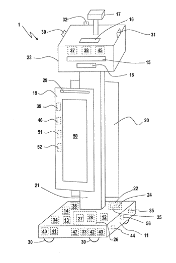 Customer service robot and related systems and methods