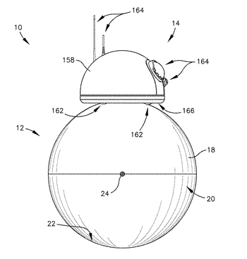 Spherical mobile robot with pivoting head