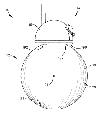 Spherical mobile robot with shifting weight steering