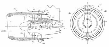 Gas turbine engine with axial movable fan variable area nozzle