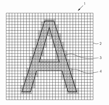 Method for improving the print quality of graphic elements
