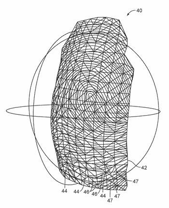 Virtual mapping of fingerprints from 3d to 2d