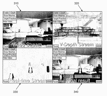 Systems and methods for a generating an interactive 3d environment using virtual depth