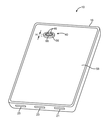 Electronic device with component trim antenna
