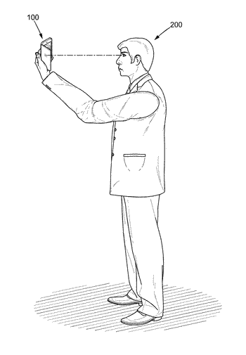 Photographic device and associated method for improving the capture of a selfie