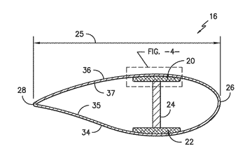 Pre-cured rotor blade components having areas of variable stiffness