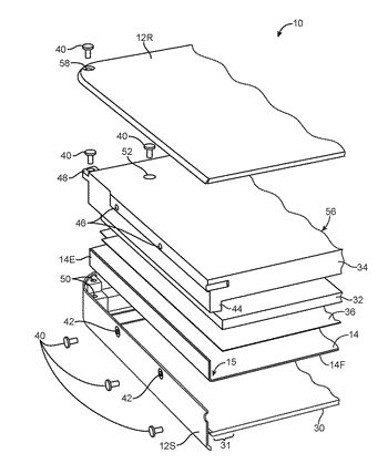 Electronic devices with flexible displays having fastened bent edges