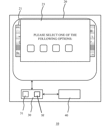 Controlling touchscreen inputs to a device