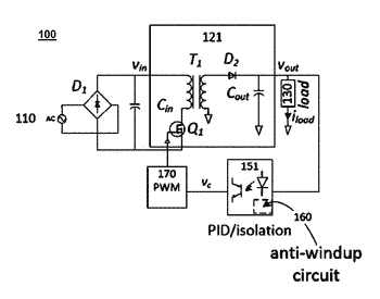 Switching mode power supply with anti-windup circuit
