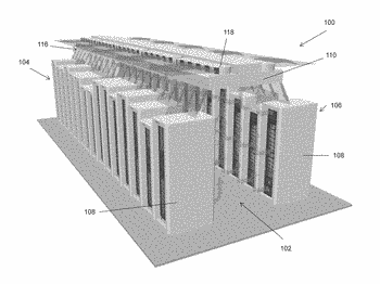Air curtain containment system and assembly for data centers