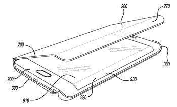 Protective case for mobile device having cover with opaque and transparent regions