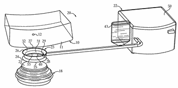Air bubble removal lithotripsy assembly and method