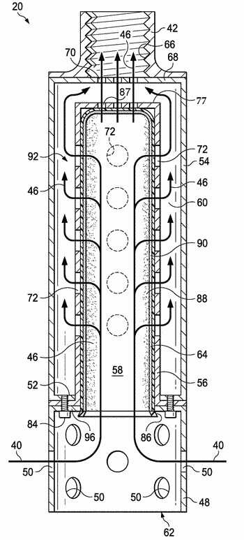 Method and apparatus for producing gas from a formation containing both gas and water