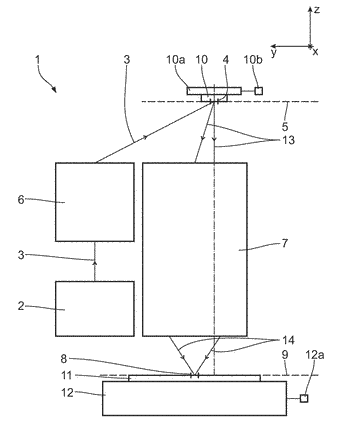 Imaging optical unit and projection exposure unit including same