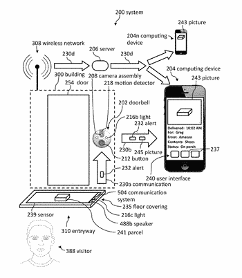 Doorbell package detection systems and methods