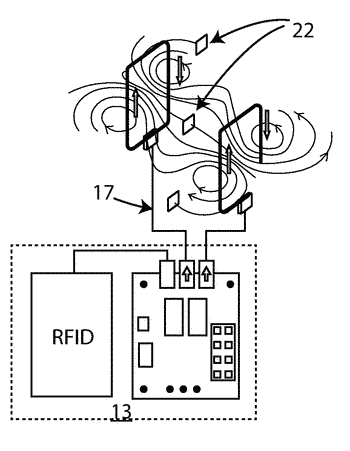 Rfid and/or rfid/em anti-theft radio frequency detection device