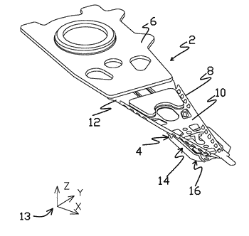 Partial curing of a microactuator mounting adhesive in a disk drive suspension