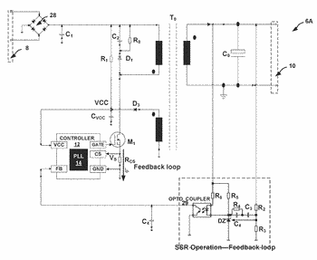 Power limiting for flyback converter