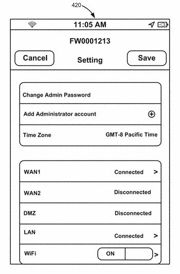 Configuring initial settings of a network security device via a hand-held computing device
