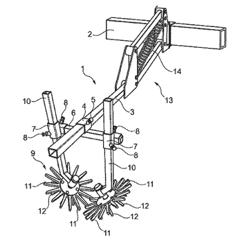 Soil-working device; method for the height guidance of at least one finger-weeder tool above a ...
