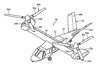 Storage modes for tiltrotor aircraft