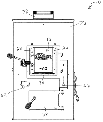 Warm air furnace with managed combustion air flow