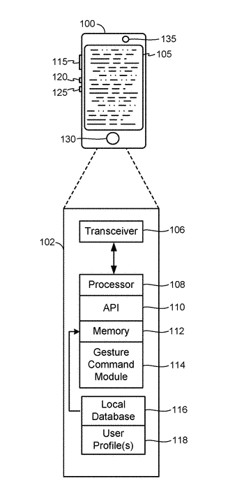 Systems and methods for recording custom gesture commands
