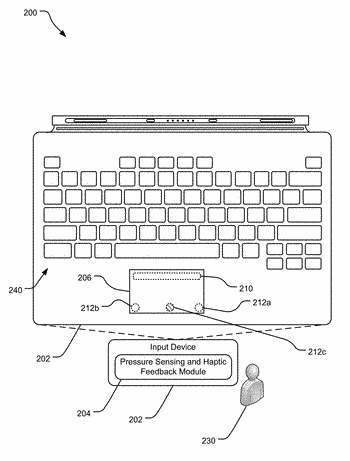 Hinged touchpad