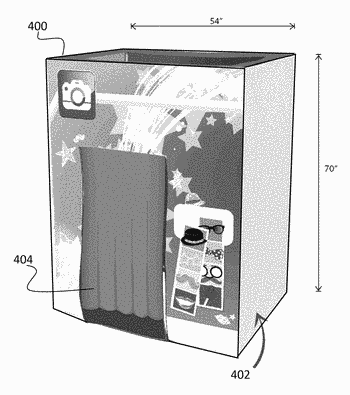 System, computer program product, and method for superimposing images captured in a photo booth onto ...