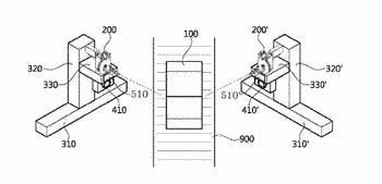 Fastening device for units in vehicle