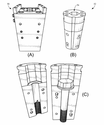 Fastening devices for landing string buoyancy and other solutions