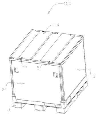 Container and locking mechanism thereof