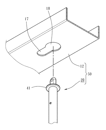 Dual-use pole for non-cord window blind assembly and blind slat lift mechanism using same