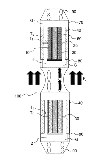 Sample holder for measuring nuclear heating in a nuclear reactor, and calorimetric cell including at ...