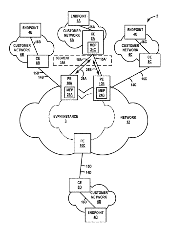 Evpn designated forwarder state propagation to customer edge devices using connectivity fault management
