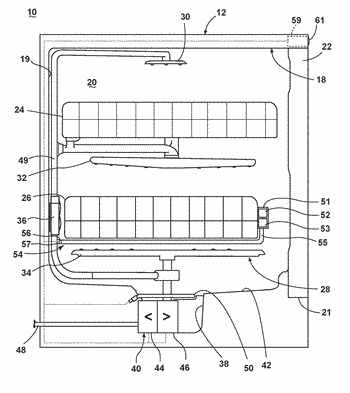 Dishwasher with rechargeable components
