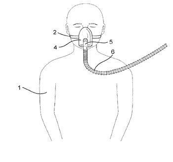 Retractable tube for cpap