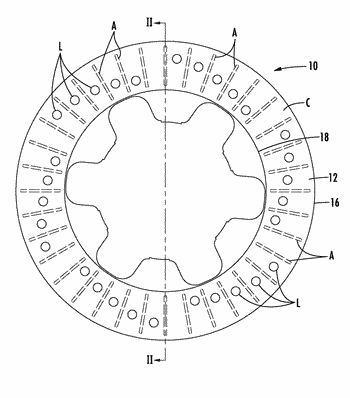 Method for making vehicular brake components by 3d printing