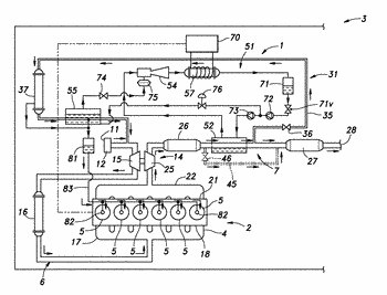 Intake and exhaust system of internal combustion engine