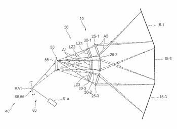 Projection device and projection-type video display device