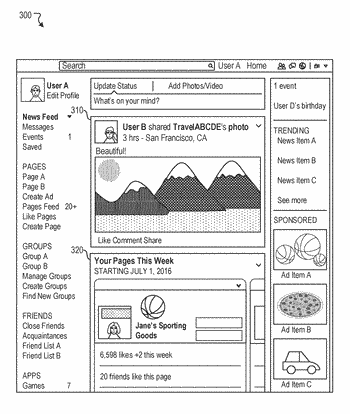 Systems and methods for providing feed page updates in a social networking system