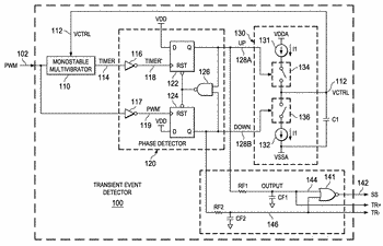 Transient event detector circuit and method