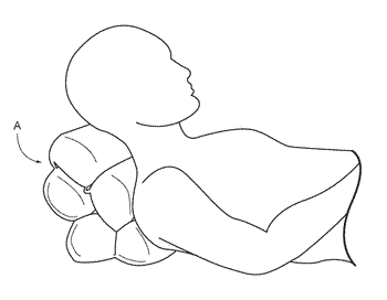 Cushion formed of articulately interconnected pillow sections