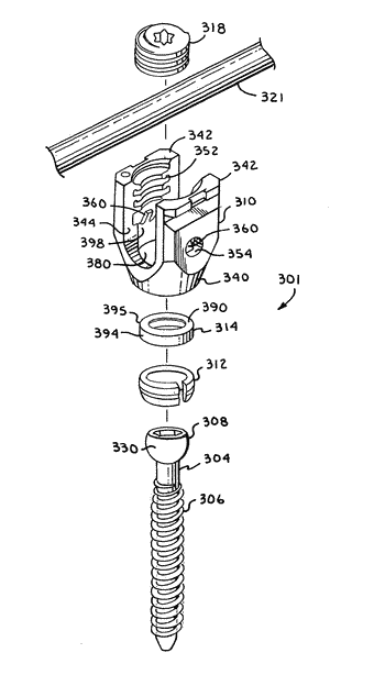 Polyaxial bone screw with spherical capture, compression insert and alignment and retention structures