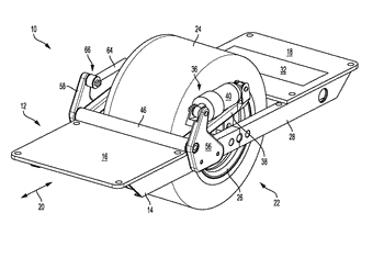 Suspension system for one-wheeled vehicle