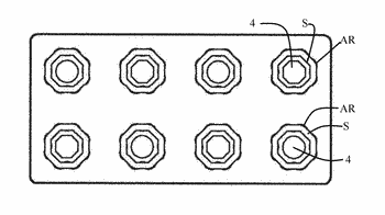 Planarly connectable toy bricks comprising an unilaterally open, box-like hollow body and plug-in studs at ...